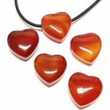 Kарнеол - пробито полирано сърце