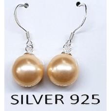 Обеци перли със сребро
