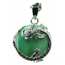 Авантюрин с обков дракон -  накит
