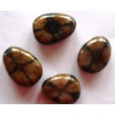 Kръстов камък / хиастолит / - пробит барабаносан камък
