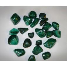 малахит - барабаносани полирани камъни на грам
