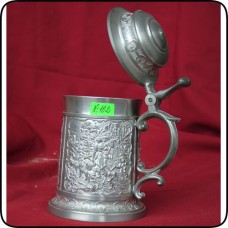1. Калаена чаша за бира с капак